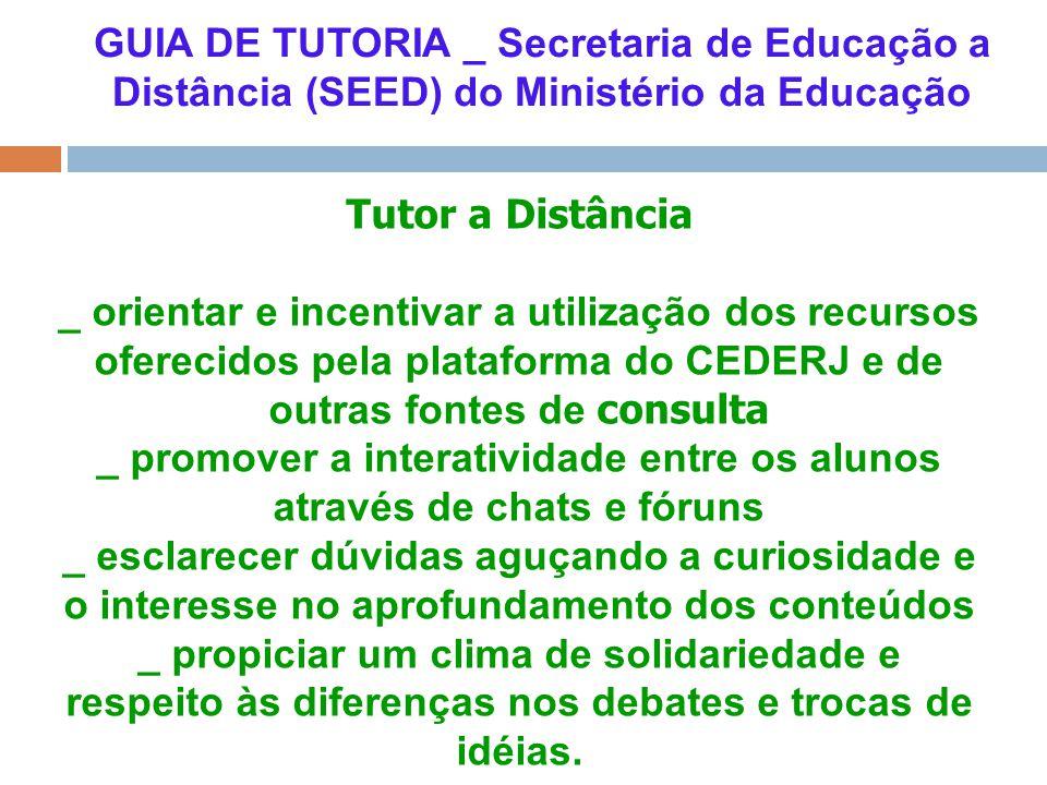 _ promover a interatividade entre os alunos através de chats e fóruns