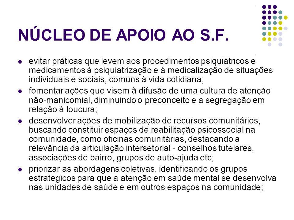 NÚCLEO DE APOIO AO S.F.