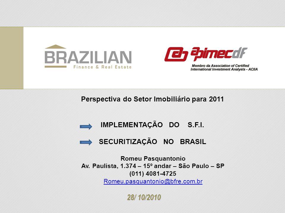 28/ 10/2010 Perspectiva do Setor Imobiliário para 2011