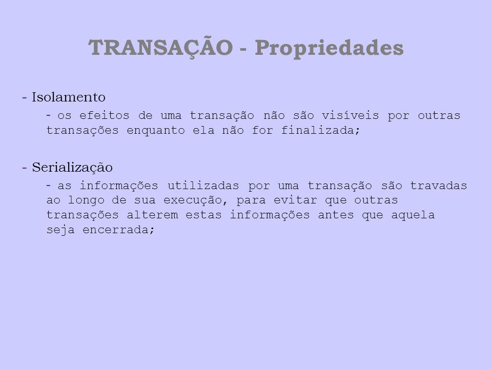 TRANSAÇÃO - Propriedades