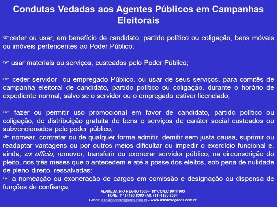 Condutas Vedadas aos Agentes Públicos em Campanhas Eleitorais