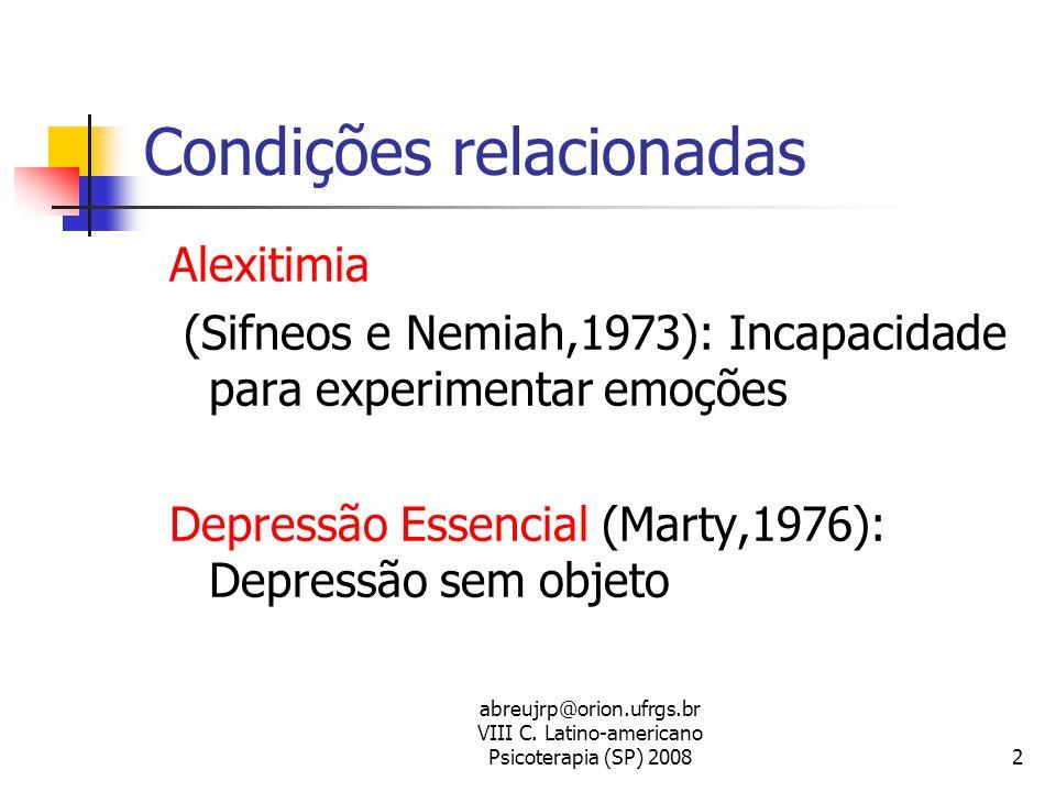 Condições relacionadas
