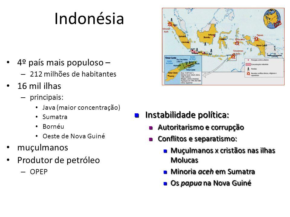 Indonésia 4º país mais populoso – 16 mil ilhas muçulmanos