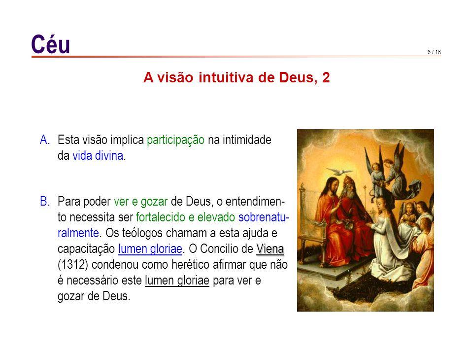 A visão intuitiva de Deus, 3