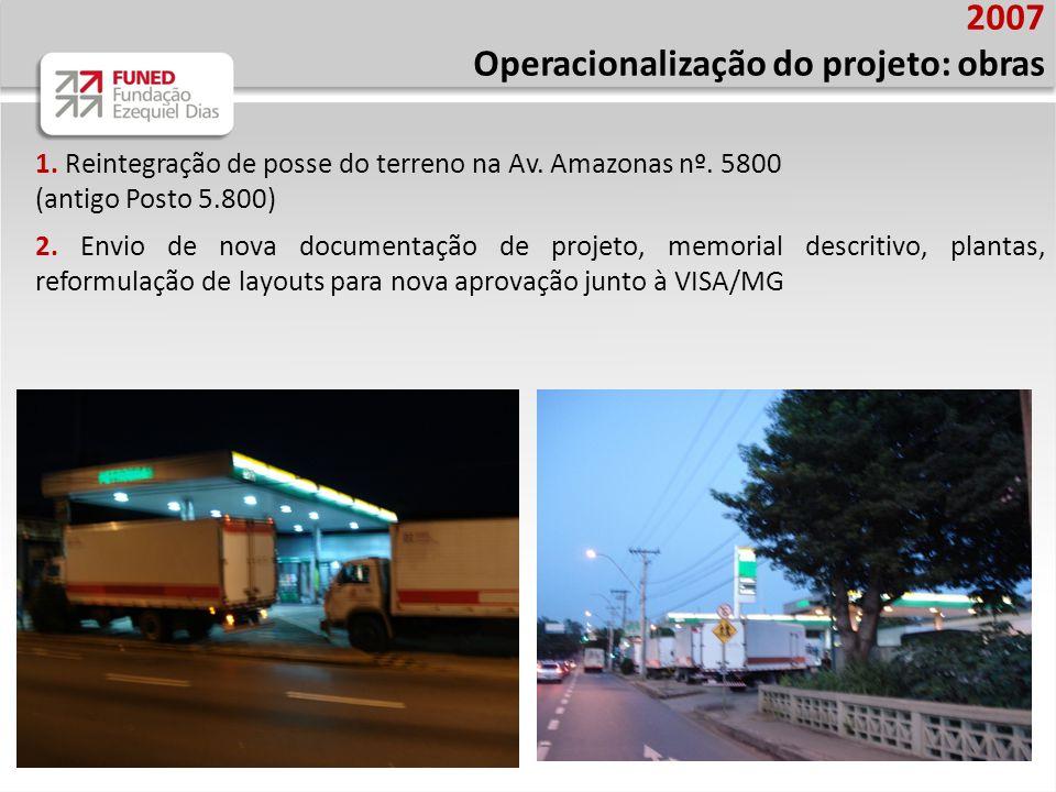 Operacionalização do projeto: obras