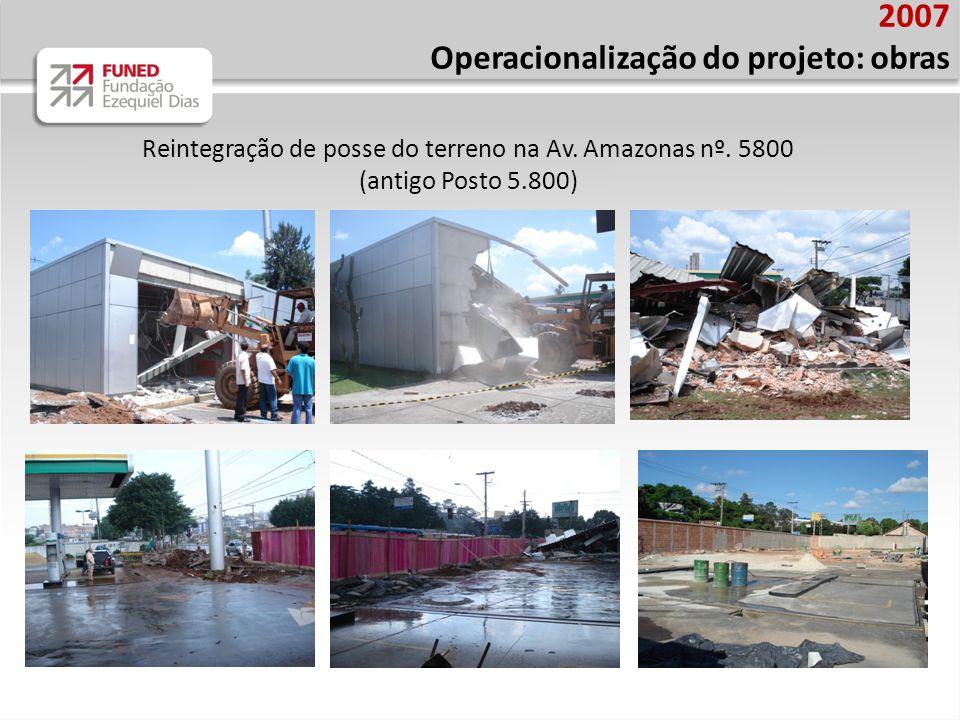 Reintegração de posse do terreno na Av. Amazonas nº. 5800