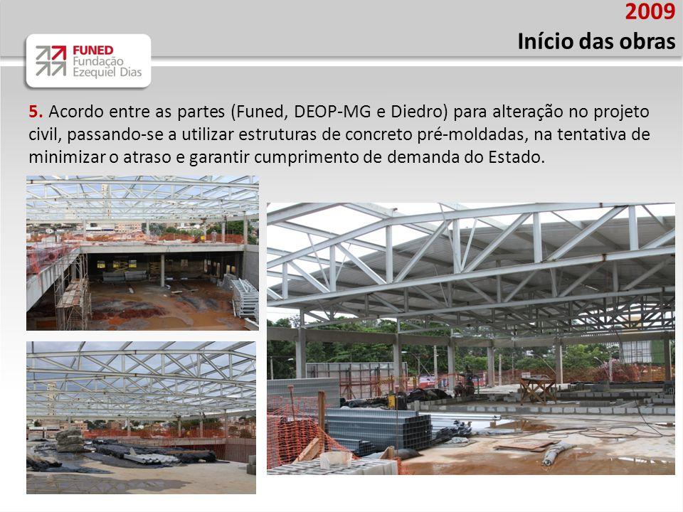 2009 Início das obras.