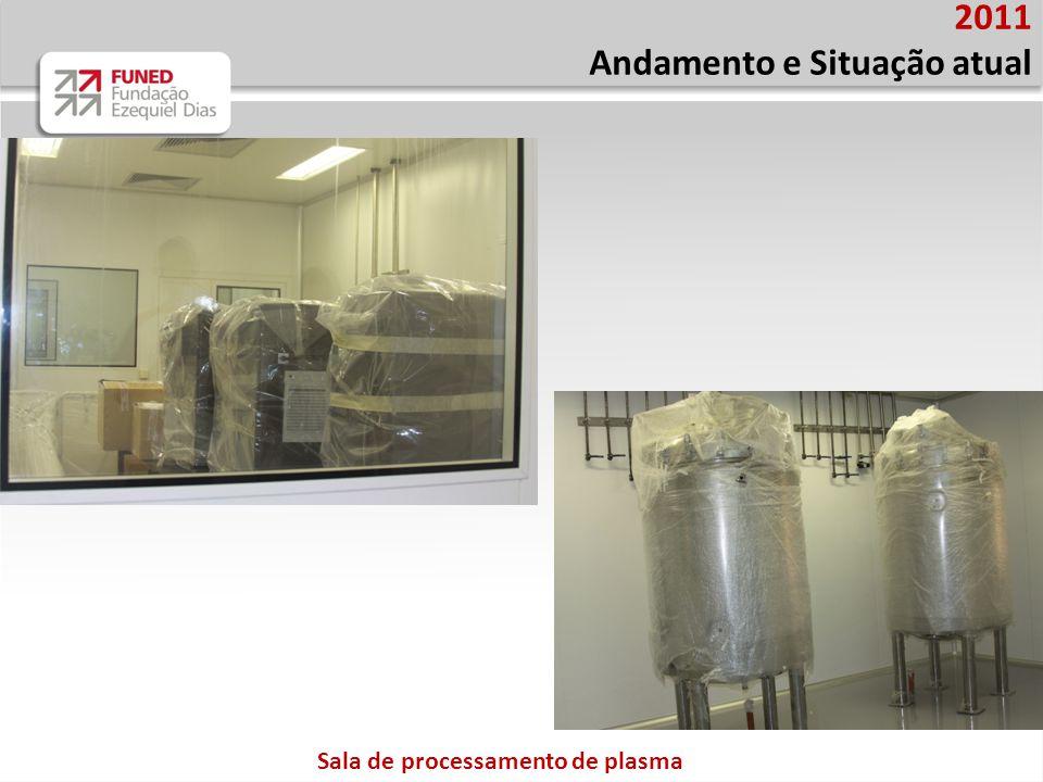 Sala de processamento de plasma