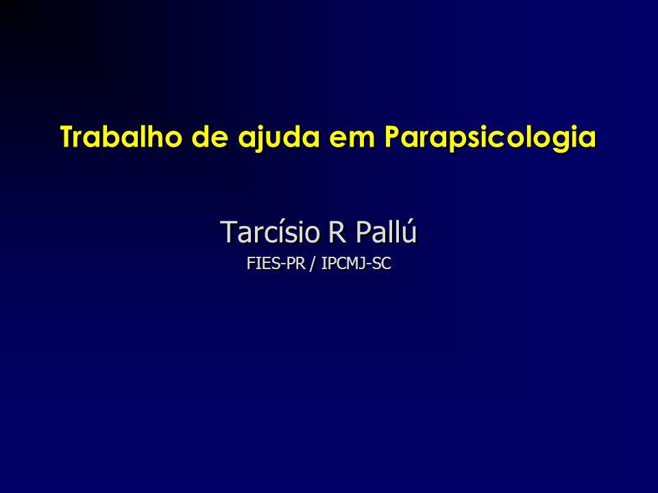 Trabalho de ajuda em Parapsicologia