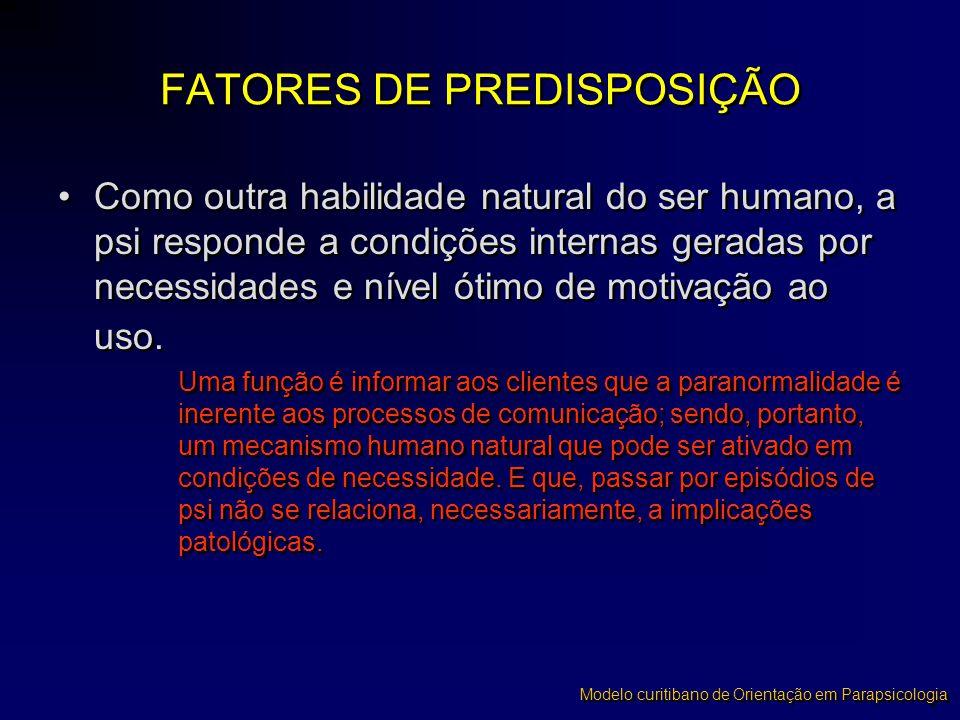FATORES DE PREDISPOSIÇÃO