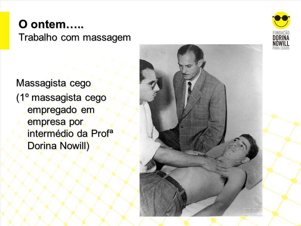 O ontem….. Trabalho com massagem