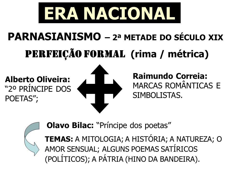 PARNASIANISMO – 2ª METADE DO SÉCULO XIX