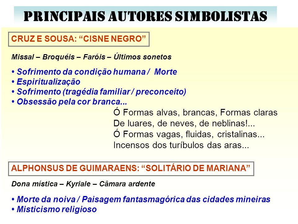 PRINCIPAIS AUTORES SIMBOLISTAS