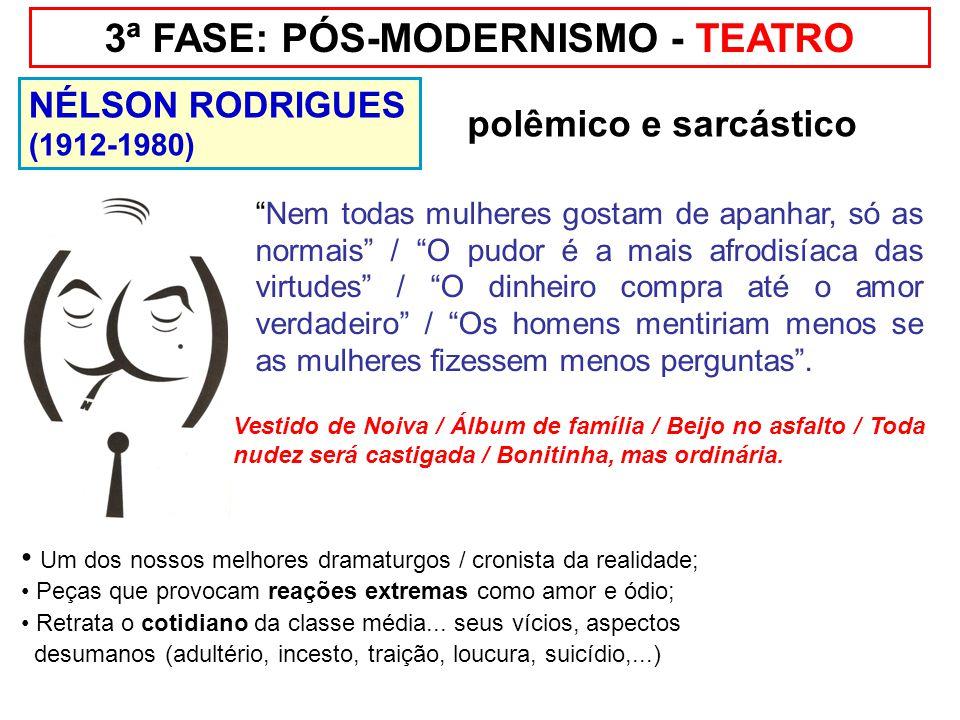 3ª FASE: PÓS-MODERNISMO - TEATRO