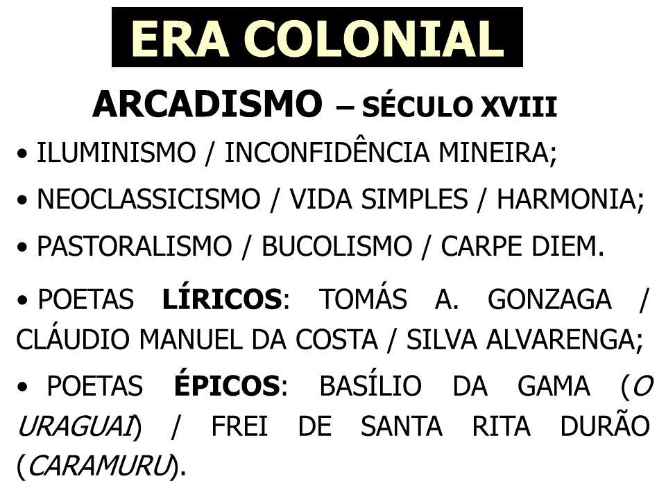 ARCADISMO – SÉCULO XVIII