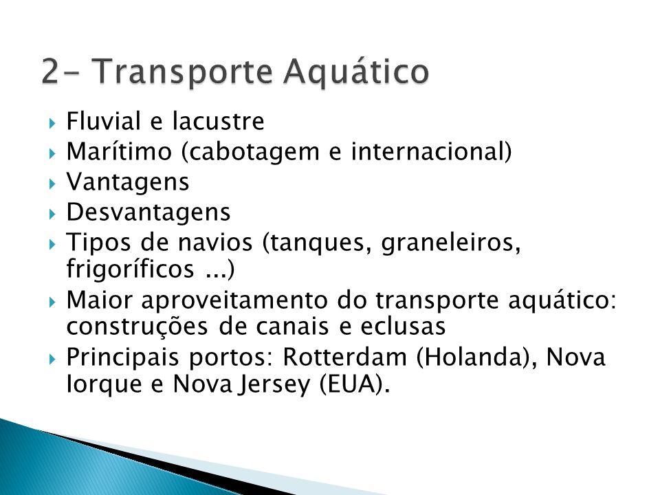 2- Transporte Aquático Fluvial e lacustre