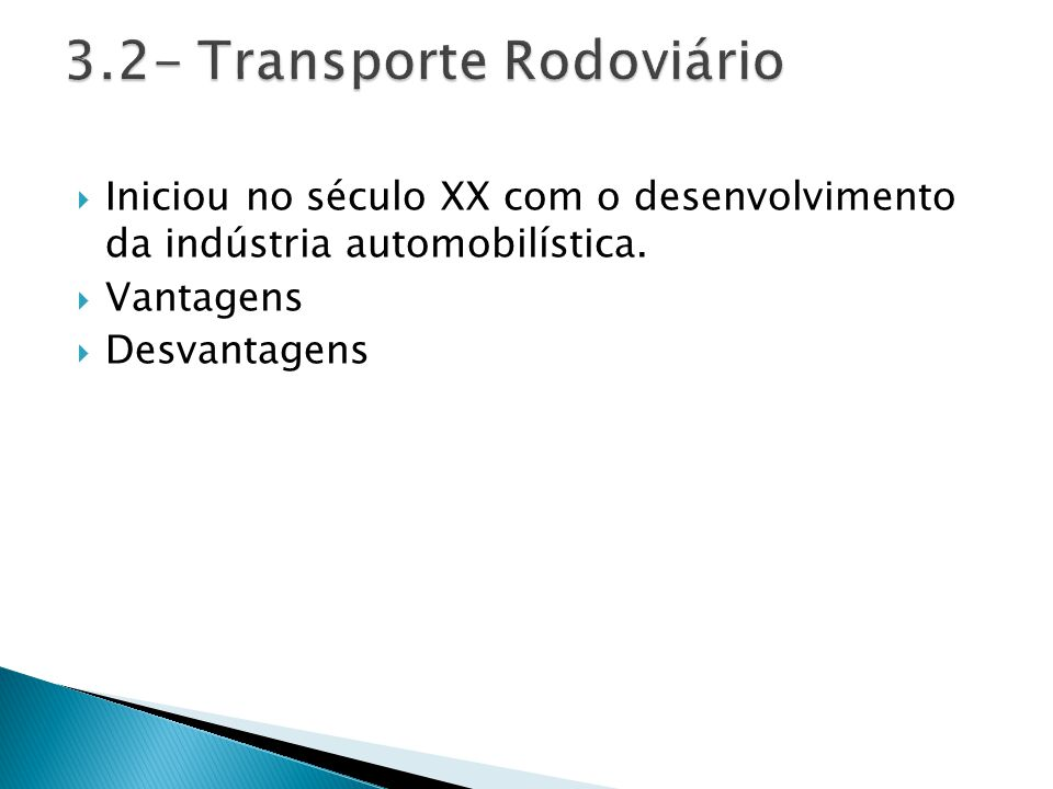 3.2- Transporte Rodoviário