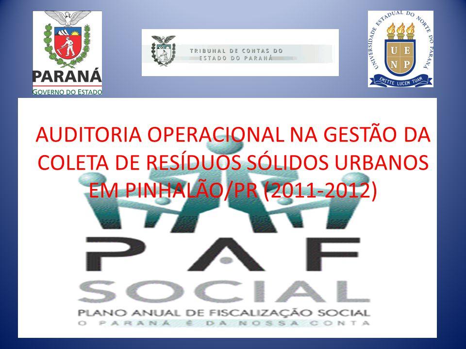 AUDITORIA OPERACIONAL NA GESTÃO DA COLETA DE RESÍDUOS SÓLIDOS URBANOS EM PINHALÃO/PR (2011-2012)