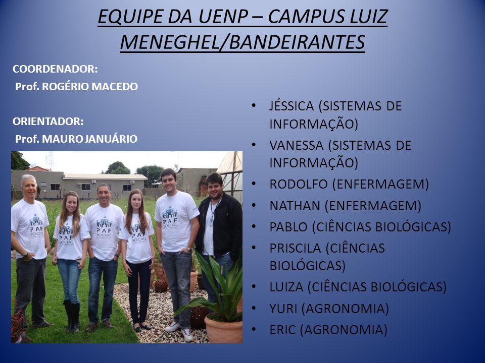 EQUIPE DA UENP – CAMPUS LUIZ MENEGHEL/BANDEIRANTES