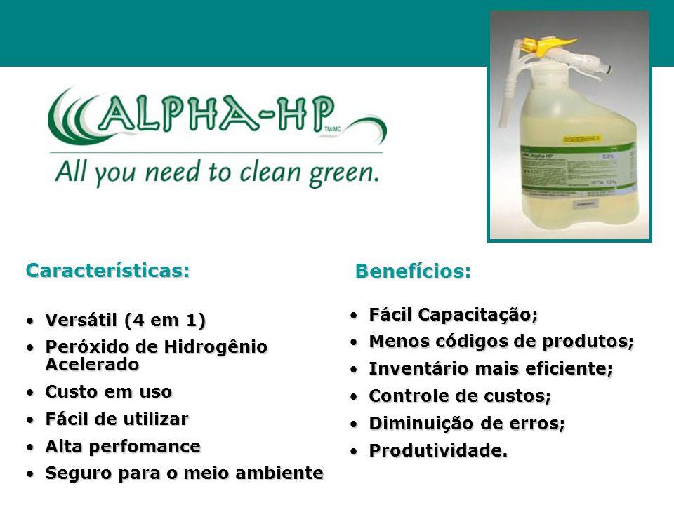 Características: Benefícios: Fácil Capacitação; Versátil (4 em 1)