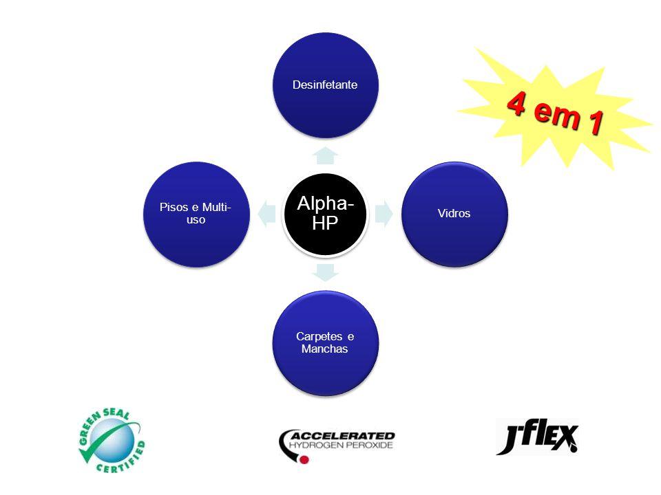 4 produtos em 1 4 em 1 Alpha-HP Desinfetante Vidros Carpetes e Manchas