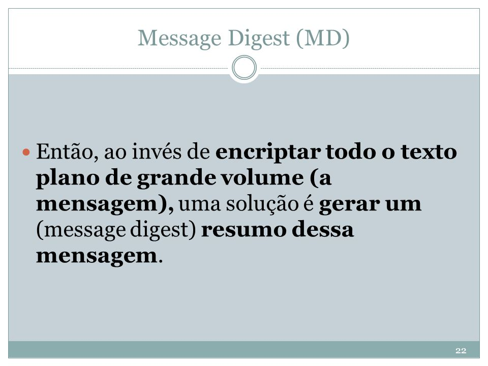 Message Digest (MD)