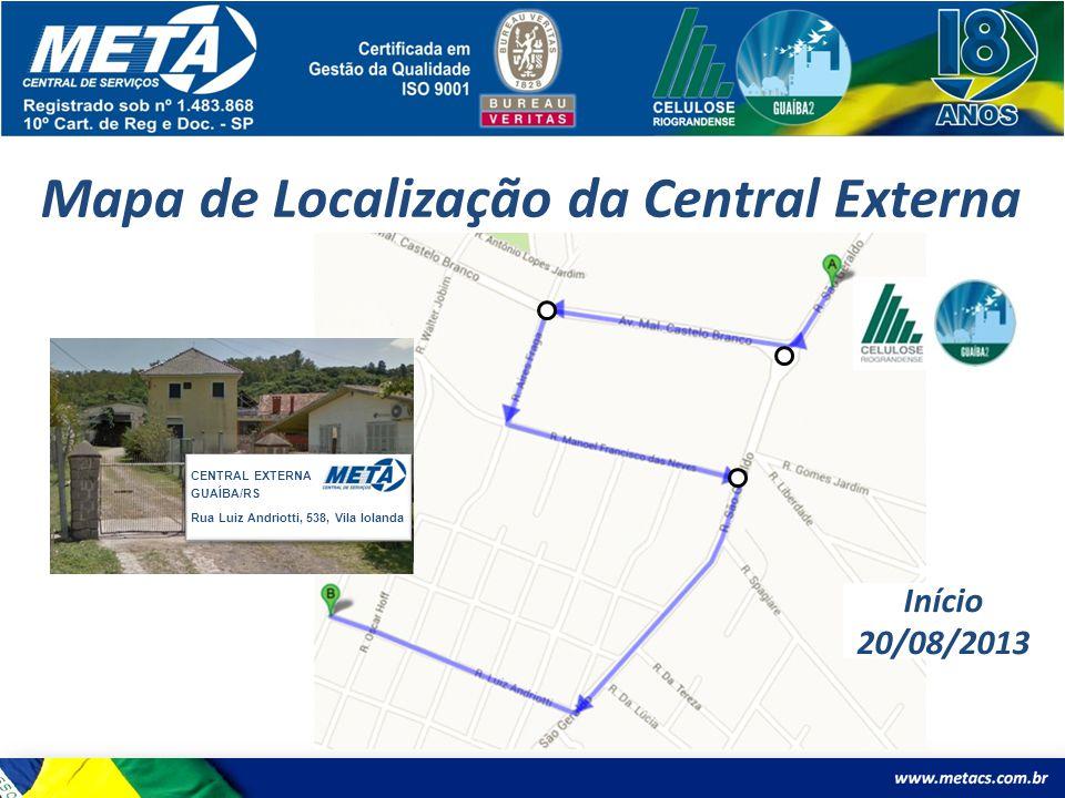 Mapa de Localização da Central Externa
