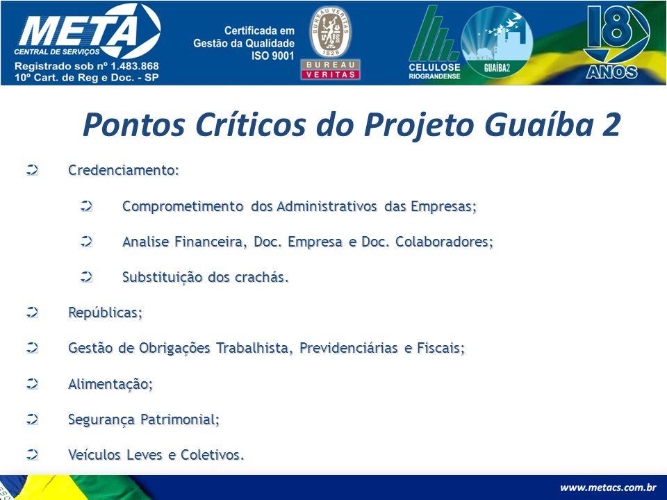 Pontos Críticos do Projeto Guaíba 2