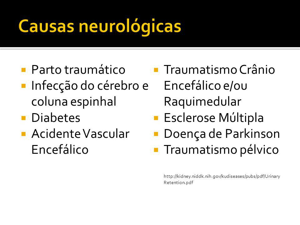 Causas neurológicas Parto traumático