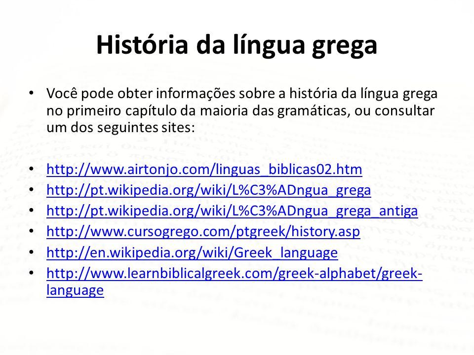 História da língua grega