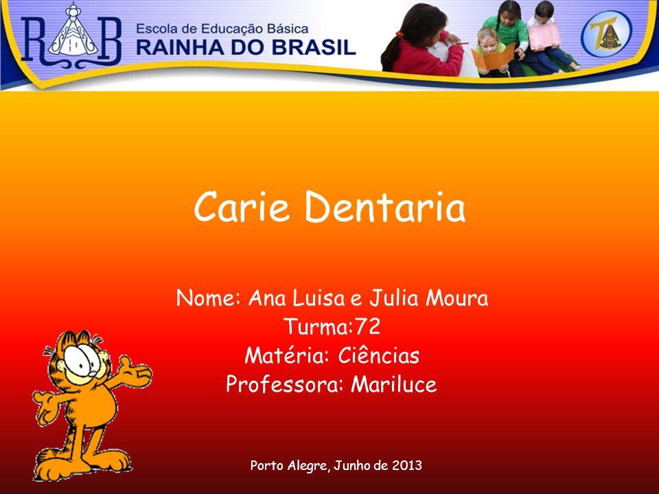 Nome: Ana Luisa e Julia Moura
