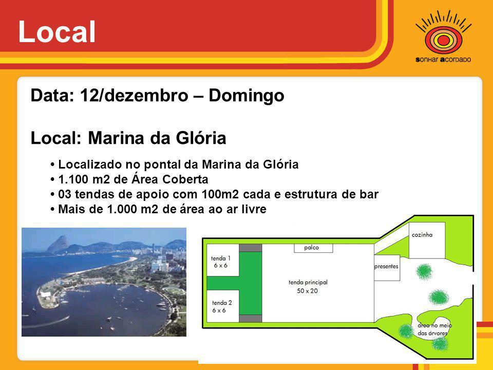 Local Data: 12/dezembro – Domingo Local: Marina da Glória