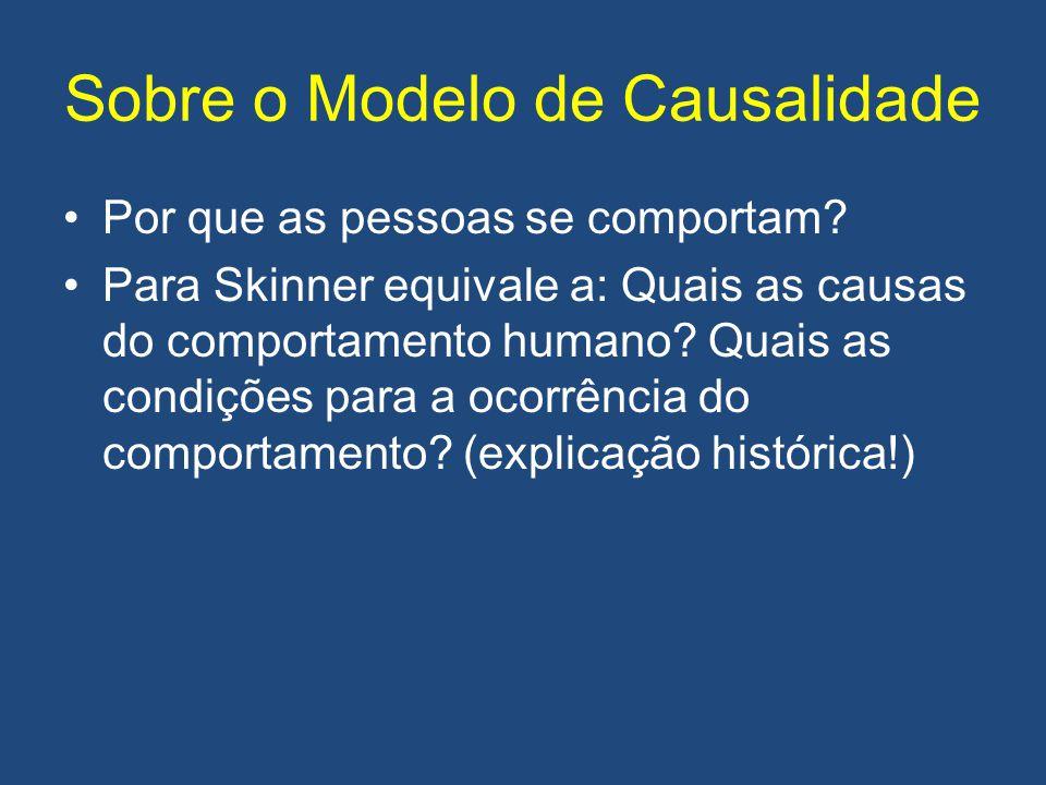 Sobre o Modelo de Causalidade