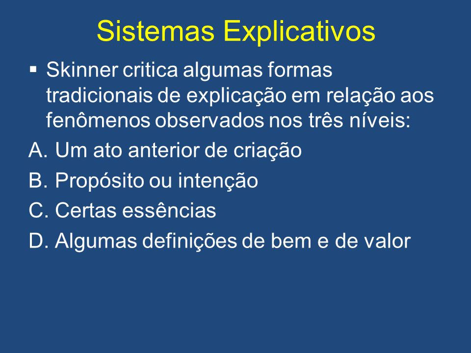 Sistemas Explicativos
