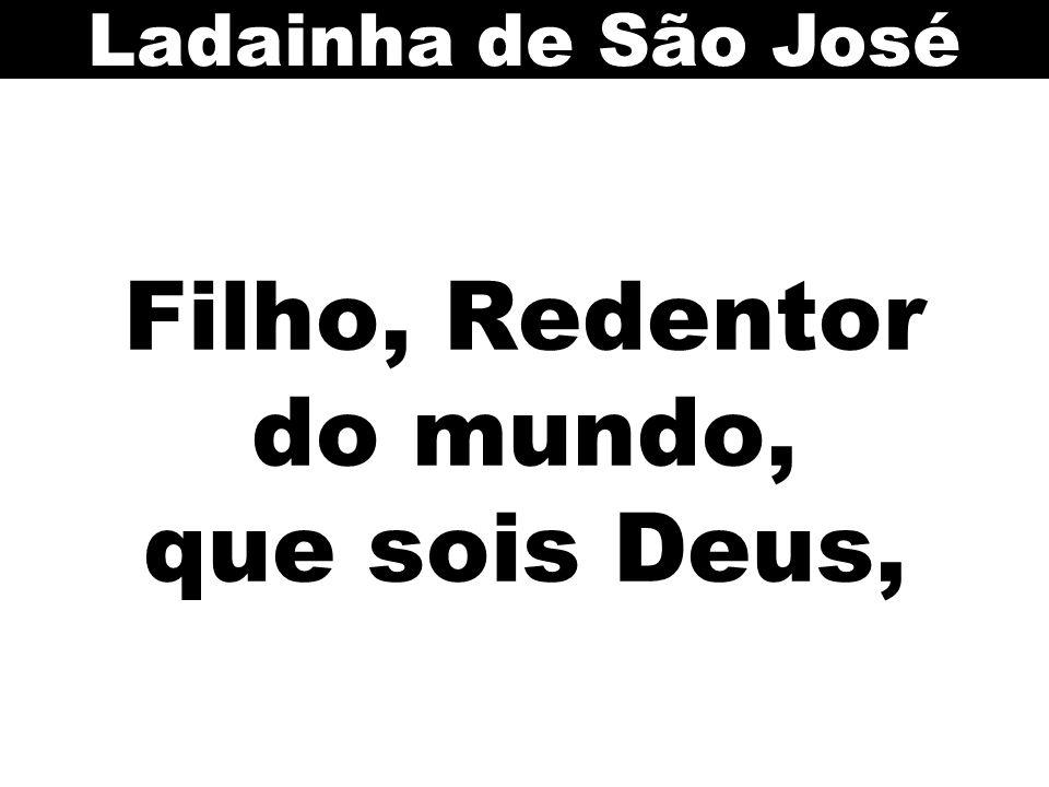 Filho, Redentor do mundo, que sois Deus,