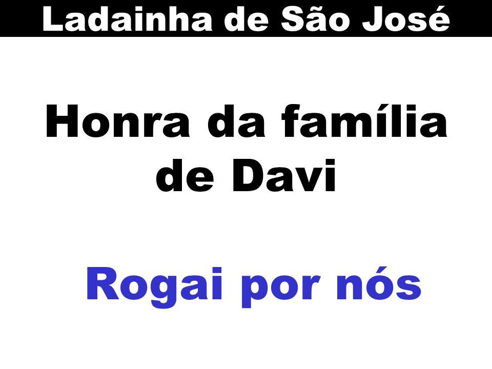 Honra da família de Davi Rogai por nós