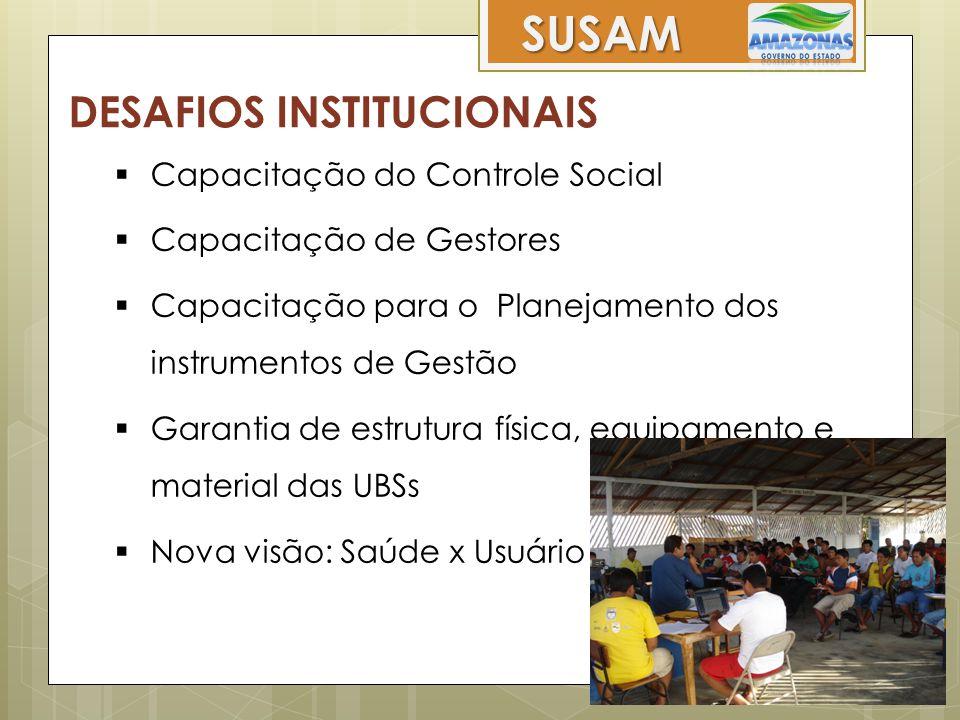 SUSAM DESAFIOS INSTITUCIONAIS Capacitação do Controle Social