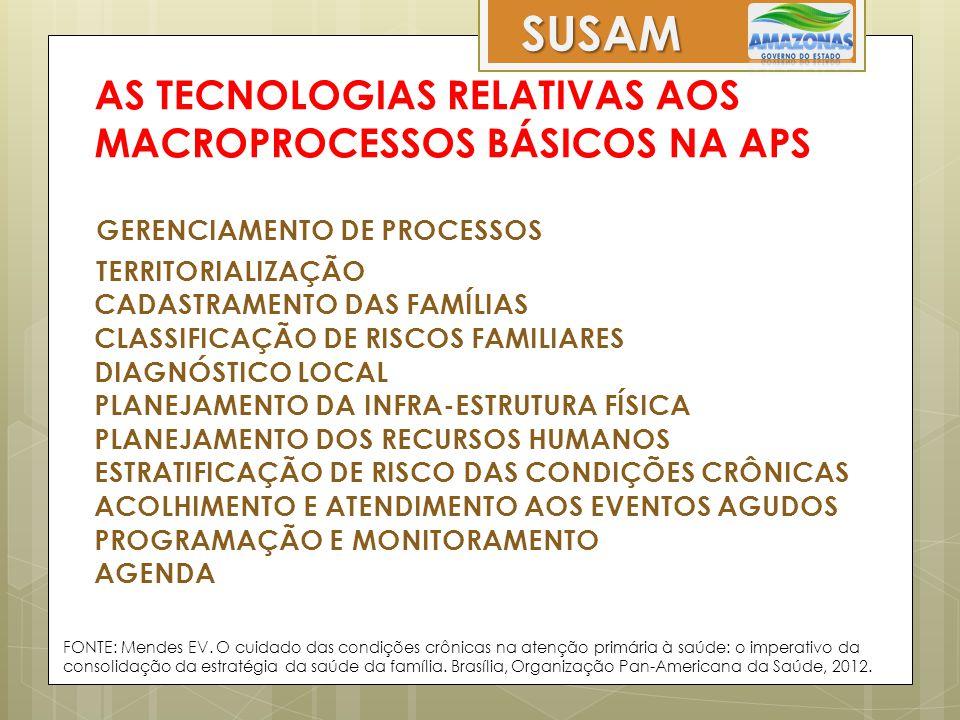 AS TECNOLOGIAS RELATIVAS AOS MACROPROCESSOS BÁSICOS NA APS