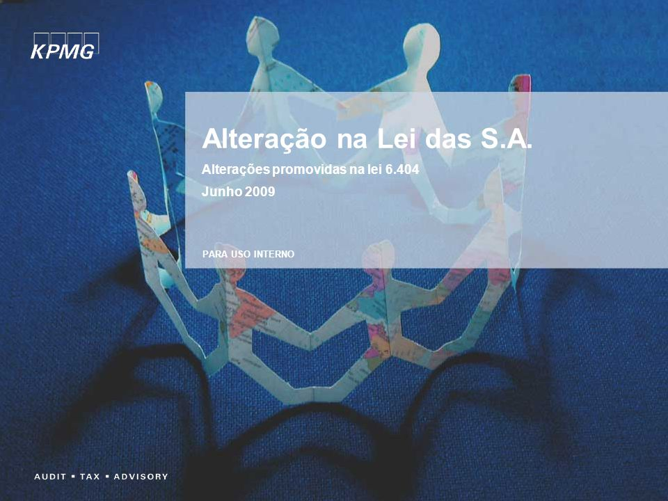 Agenda Mudanças nas Normas Contábeis Brasileiras Lei nº 6.404