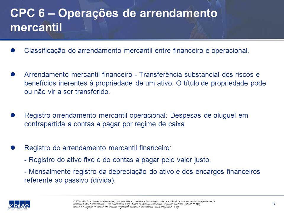CPC 6 – Operações de arrendamento mercantil