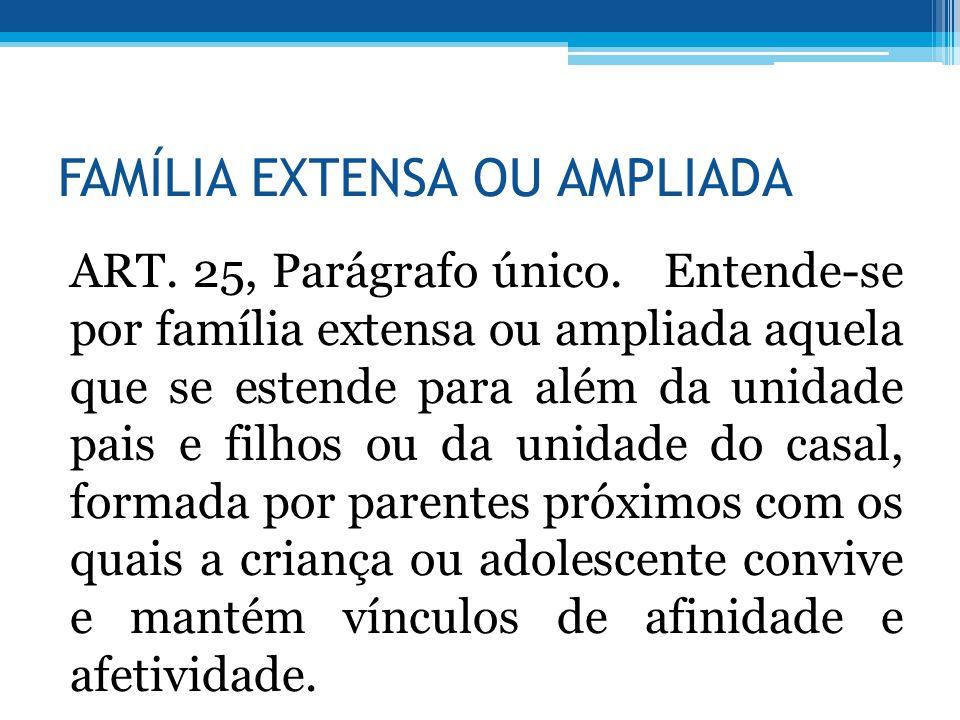 FAMÍLIA EXTENSA OU AMPLIADA
