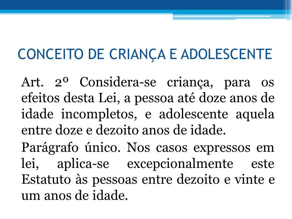 CONCEITO DE CRIANÇA E ADOLESCENTE