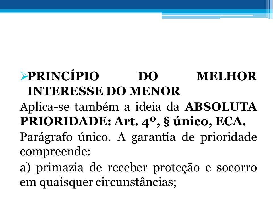 PRINCÍPIO DO MELHOR INTERESSE DO MENOR