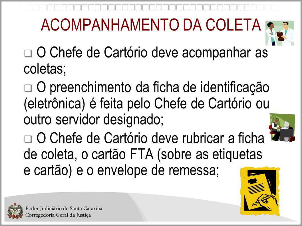 ACOMPANHAMENTO DA COLETA