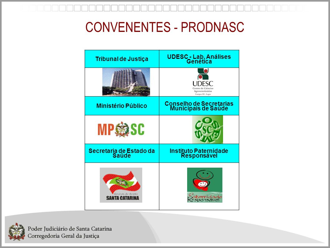 CONVENENTES - PRODNASC