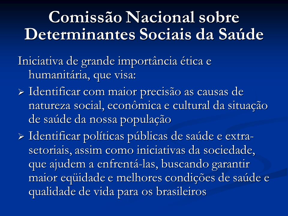 Comissão Nacional sobre Determinantes Sociais da Saúde