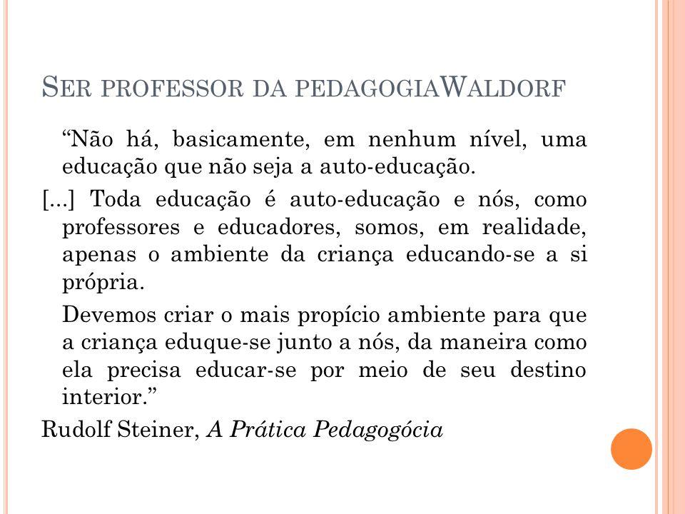 Ser professor da pedagogiaWaldorf