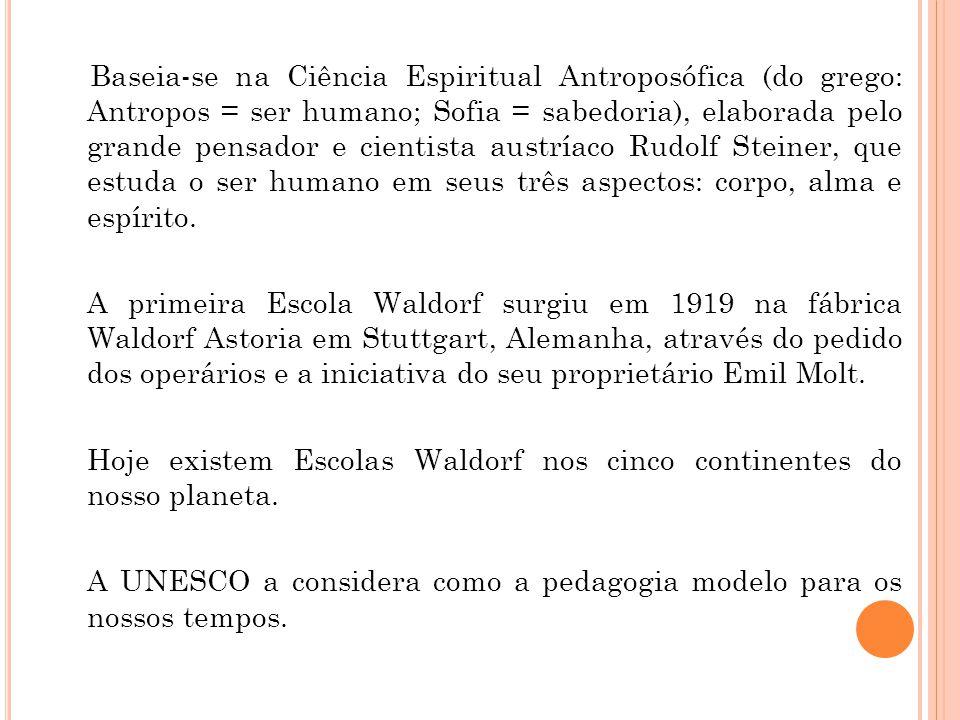Baseia-se na Ciência Espiritual Antroposófica (do grego: Antropos = ser humano; Sofia = sabedoria), elaborada pelo grande pensador e cientista austríaco Rudolf Steiner, que estuda o ser humano em seus três aspectos: corpo, alma e espírito.