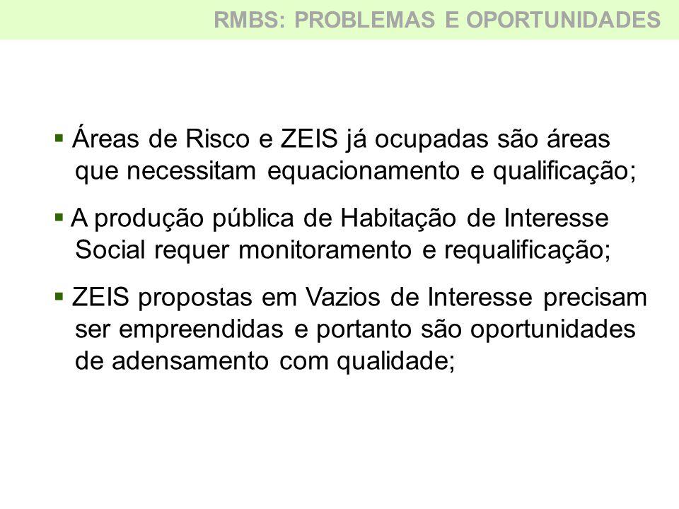 Áreas de Risco e ZEIS já ocupadas são áreas
