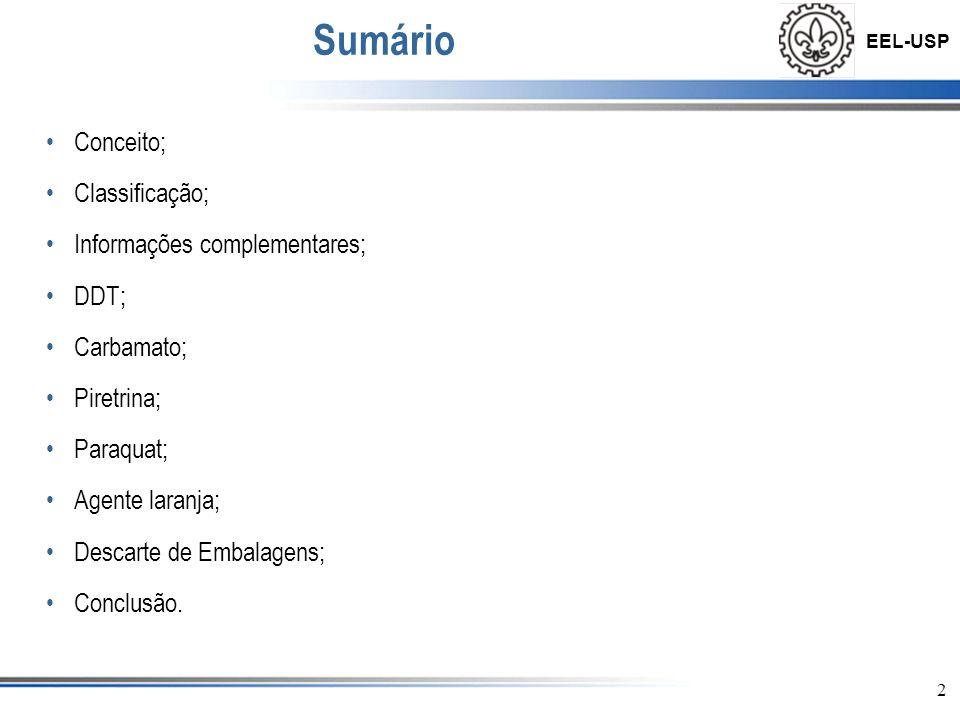 Sumário Conceito; Classificação; Informações complementares; DDT;